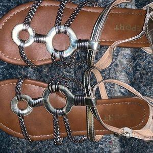Report Gold Gustava Gladiator Sandals